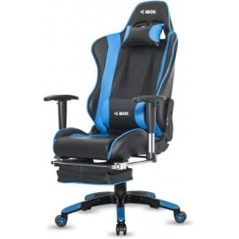 Fotel gamingowy IBOX Aurora GT1 Gaming GT1CZARNY/NIEBI ( niebieski )