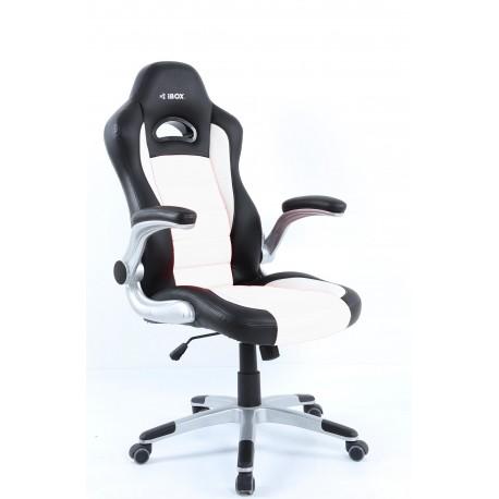 Fotel gamingowy IBOX GT2CZARNY/BIAŁY ( czarny )